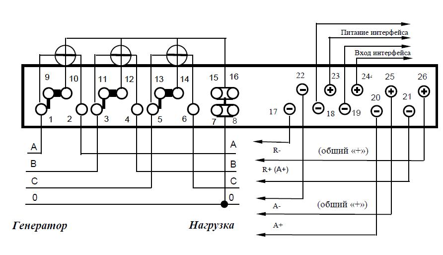 Схемы подключения счетчика к