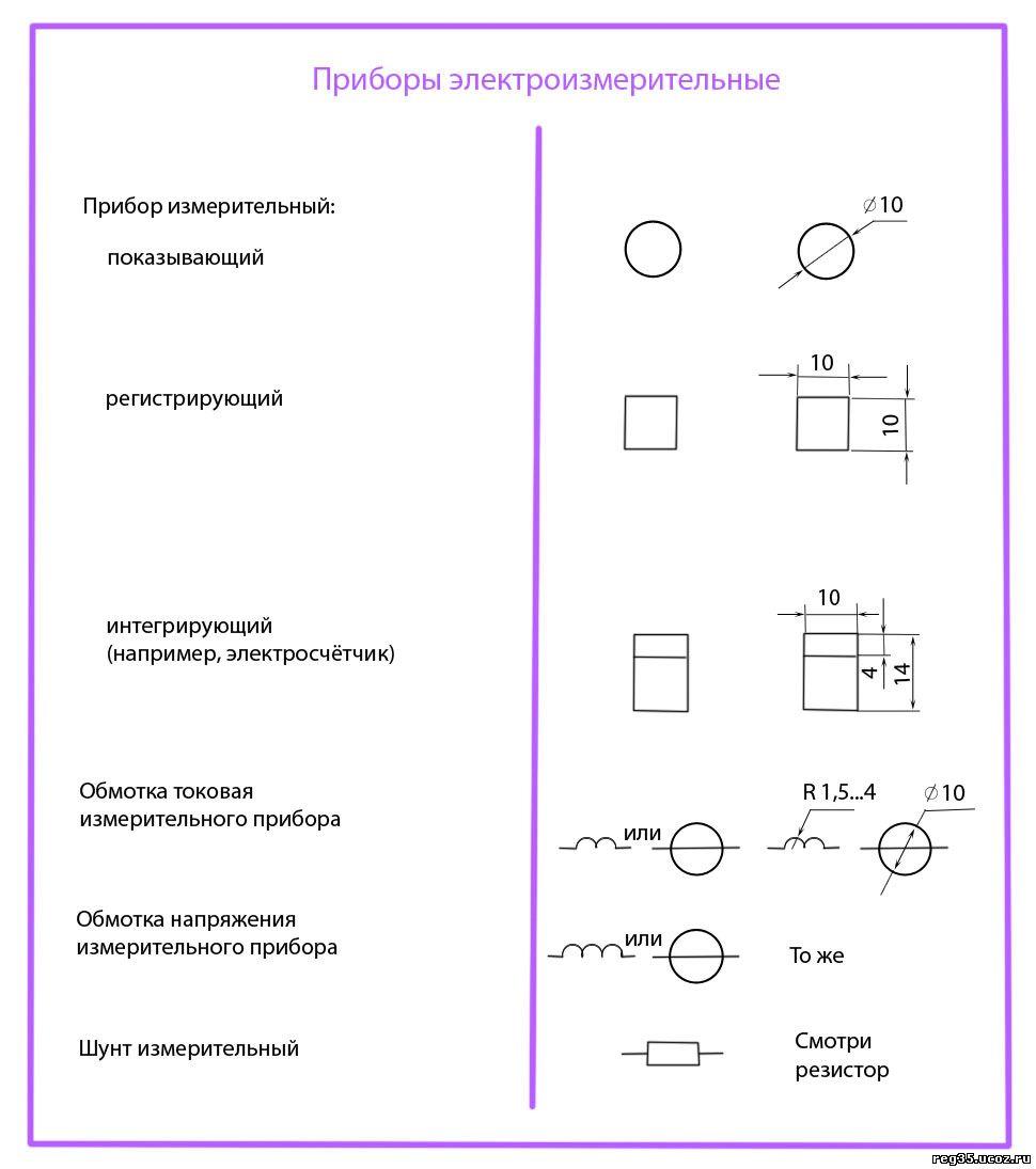 Линейные электрические схемы условные обозначения